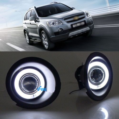Details About Super Cob Fog Light Angel Eye Bumper Cover For