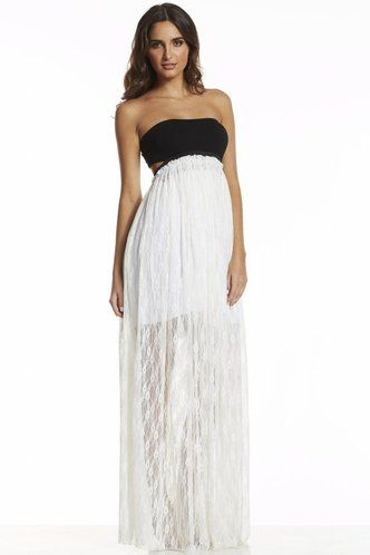Maxi Bandeau Top with Lace Body http://www.caritocaro.com/maxi-bandeau-top-with-lace-body/