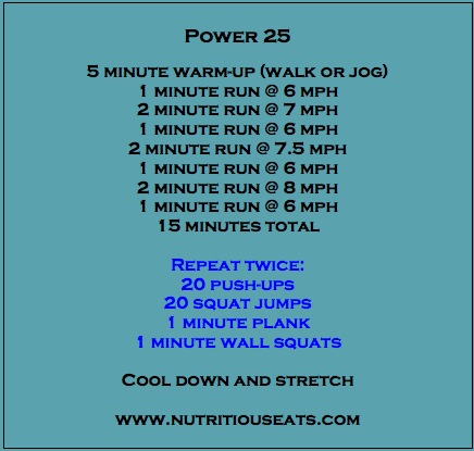 power 25 workout from nutritious eats  fitness tips