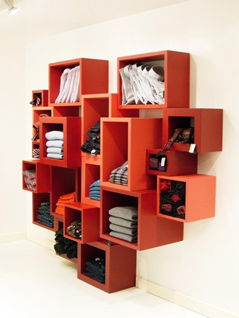 furniture-orange-colored-stylish-flexible-plaid-system-bookshelves ...