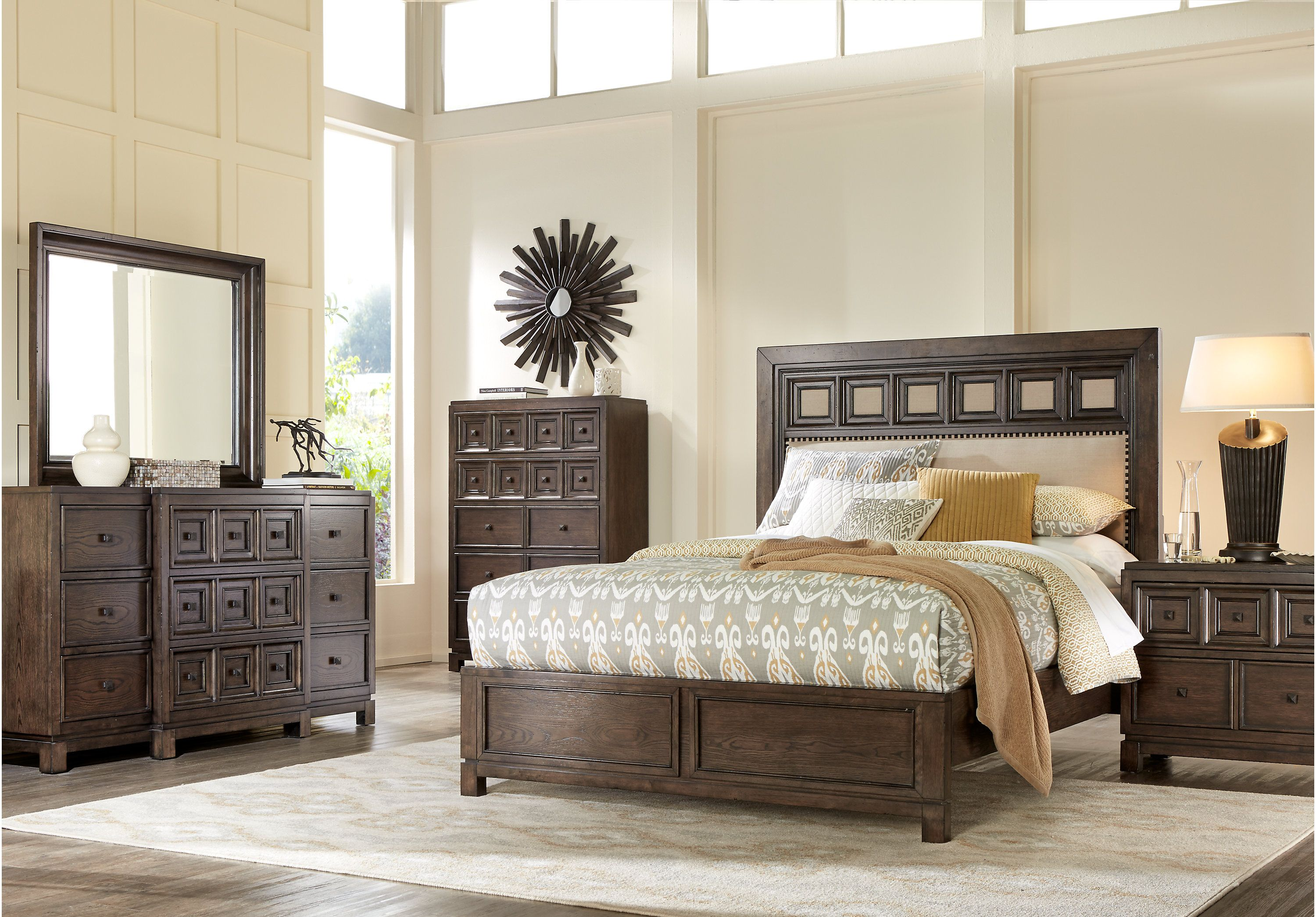 Picture of harrington hills gray pc king bedroom from king bedroom