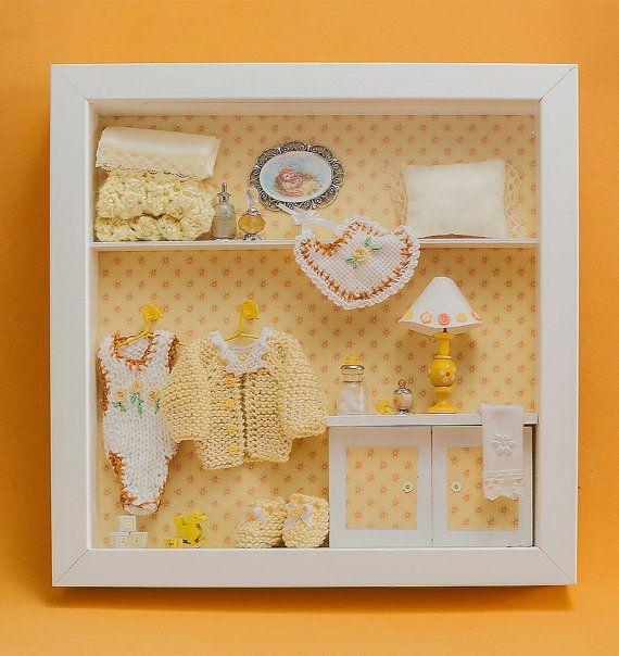 Beautiful Baby Shadow Box Frame 3d Wall Art Baby Room Decor Baby