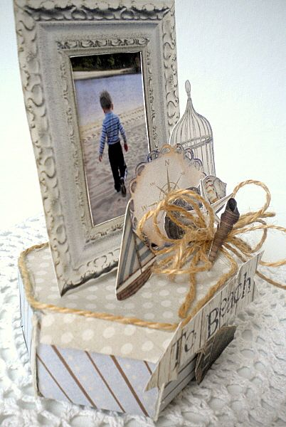 """My favorite beach kit used for centerpiece!!! Beach Box Centerpiece using """"Sugar Sands Beach"""" kit by Etc by Danyale @thedigichick hybrid blog"""