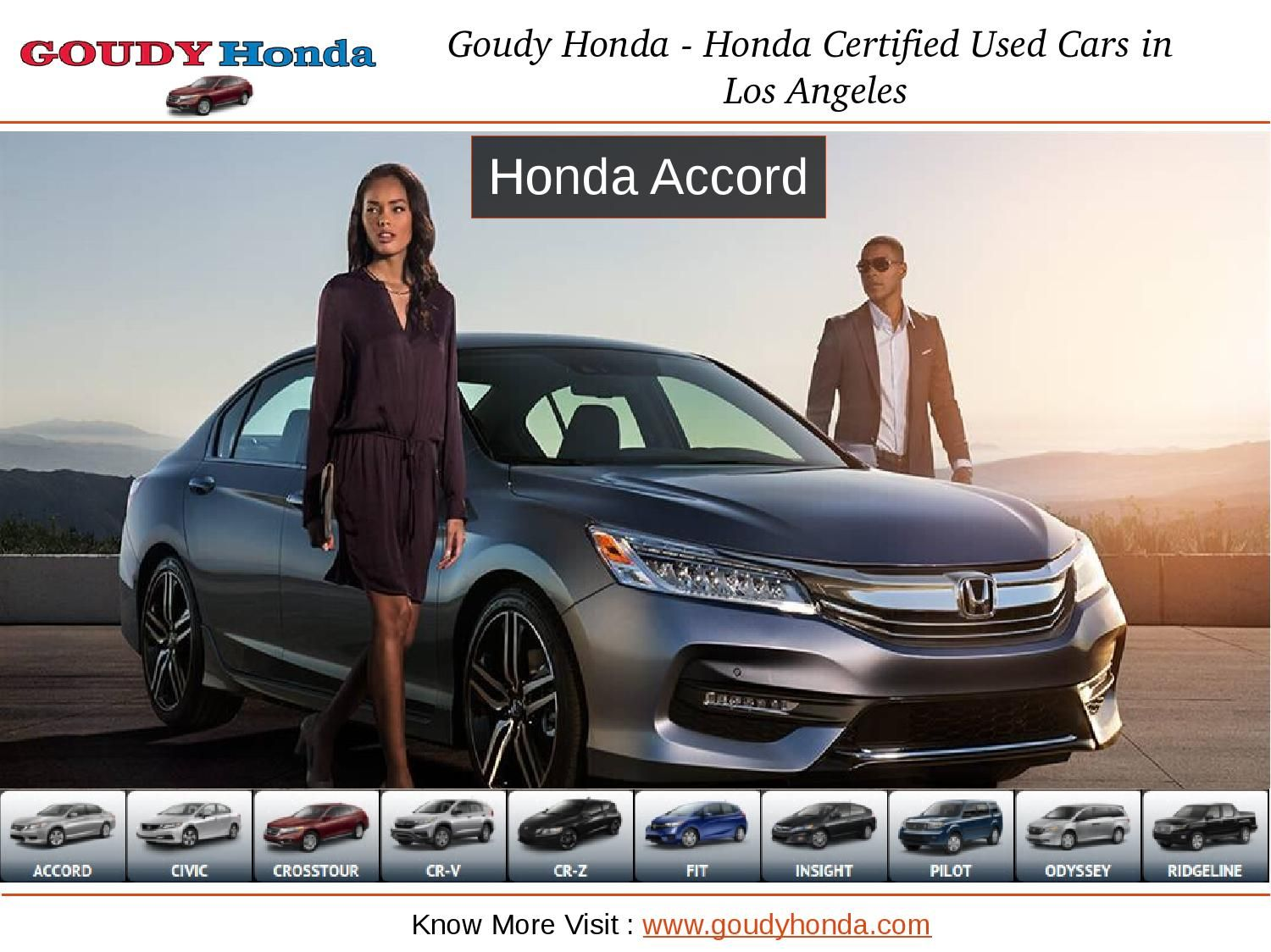 Goudy honda best honda dealer in los angeles Honda
