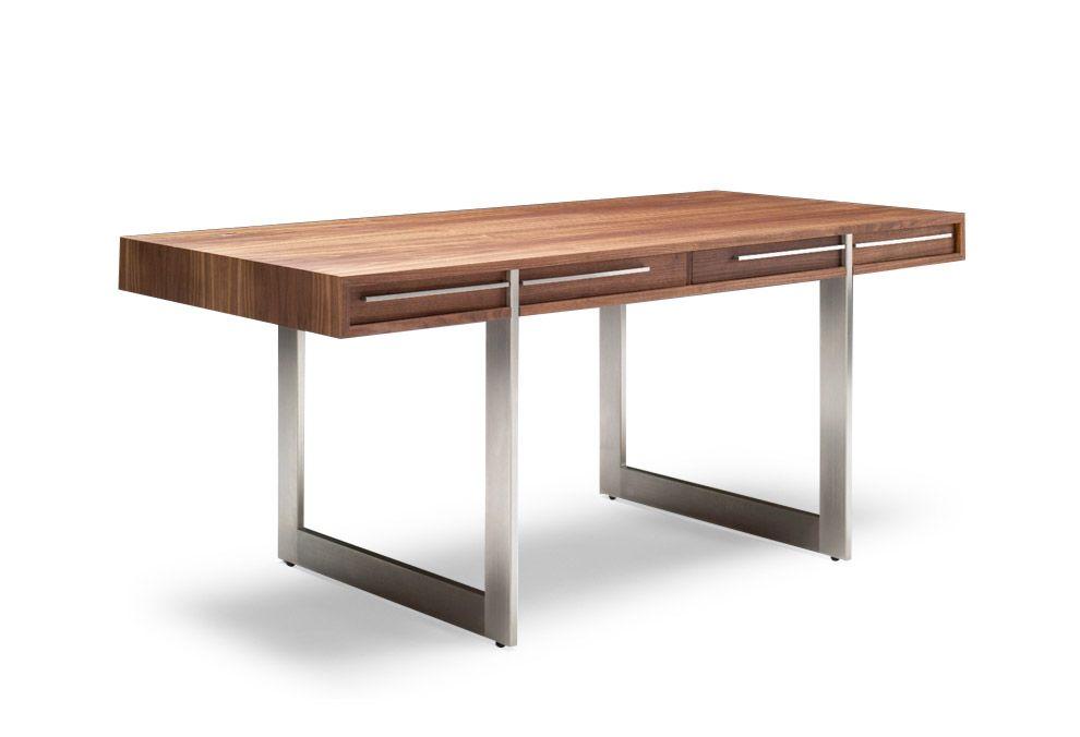 Bureau bridge bois et acier cm nissen gehl bureaux design