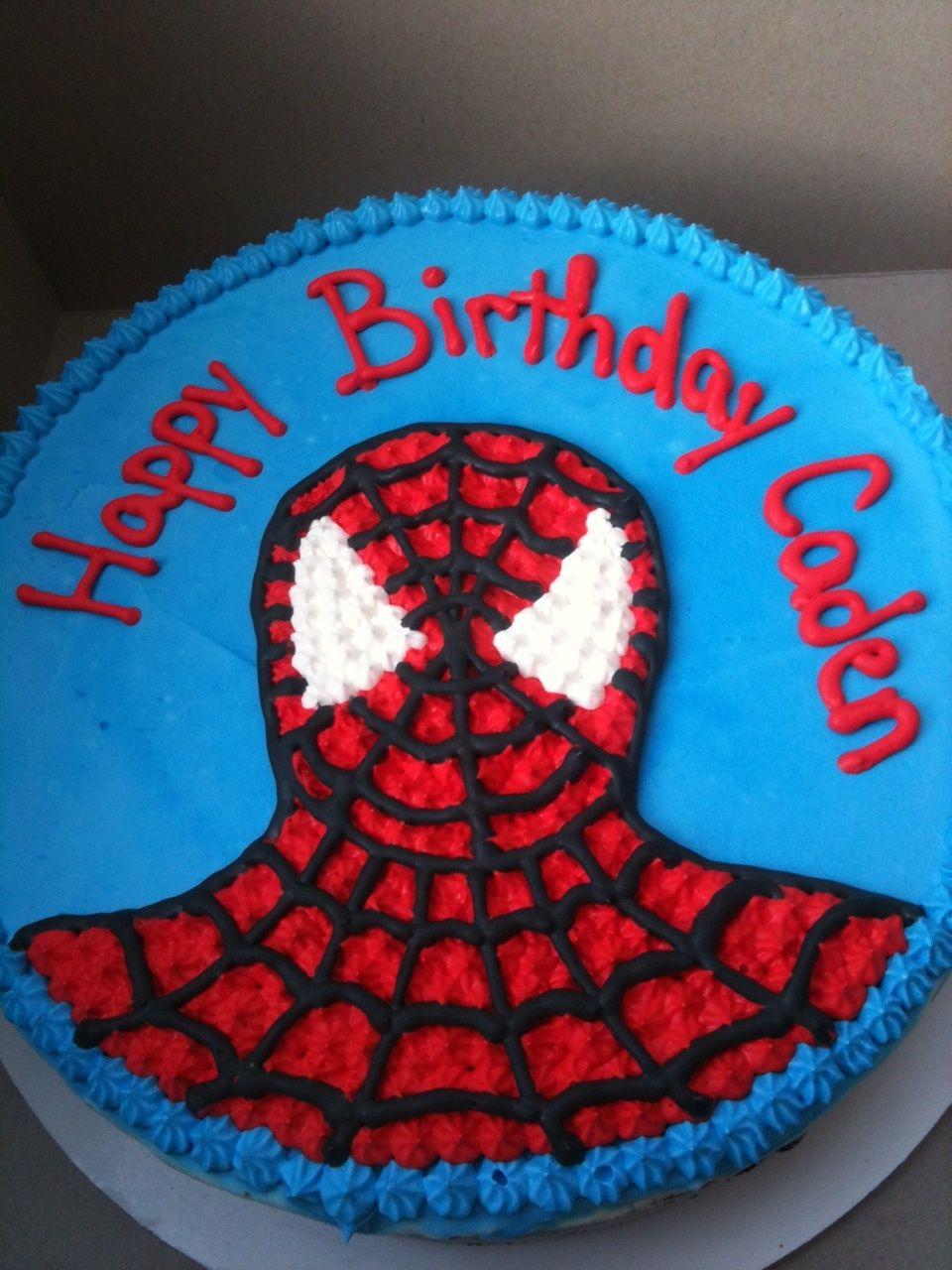 Spiderman Ice Cream Cake Birthday Ideas For Kids