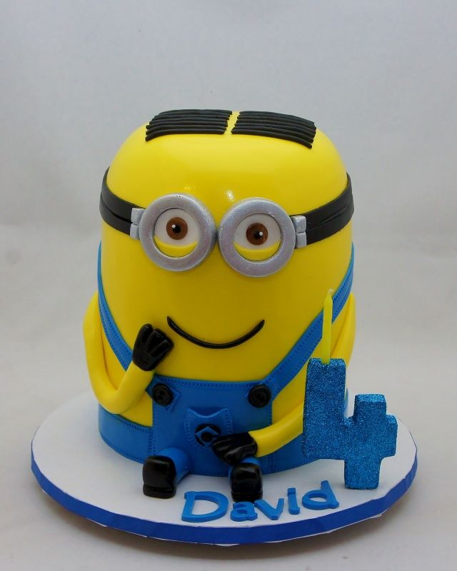 3D Minion Dave Cake 3D Cakes Pinterest 3d cakes and Cake