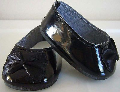 Black-Patent-Ballet-Flats-Shoes-for-American-Girl-Doll-Clothes-Highest-Quality