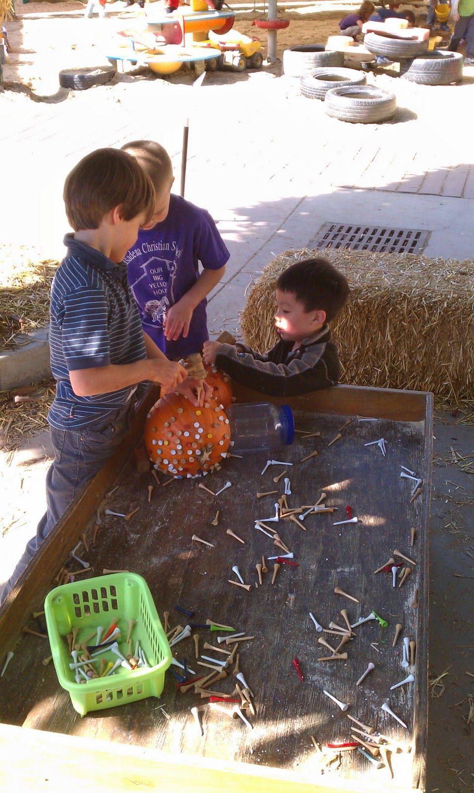 Exploring the Outdoor Classroom: Pumpkins and Golf Tees