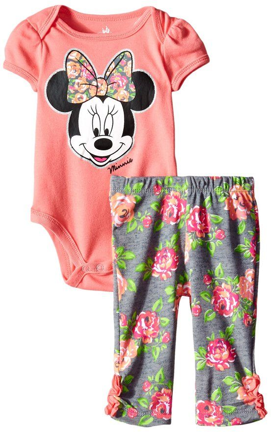64986b875480 Disney Baby Girls  Minnie Mouse Girl Bodysuit and Pant Set