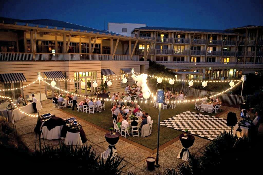 Evening Wedding Reception At Watercolor Inn And Resort