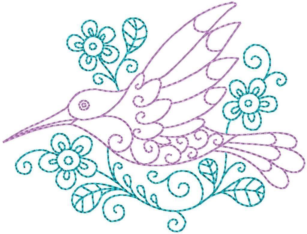 Hummingbird #8 Hand Embroidery Pattern   Pinterest   Bordado ...