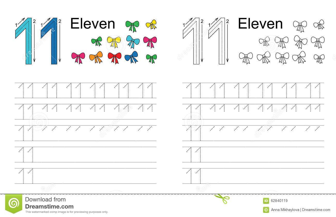 3 Number 11 Tracing Worksheet Tracing Worksheet For Figure