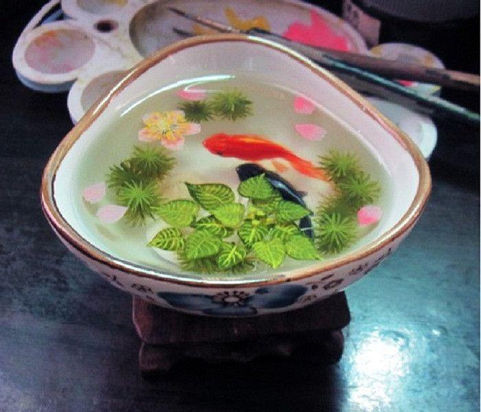 Goldfish Painting D Goldfish Painting In Resin Water Inspired - Incredible 3d goldfish drawings using resin