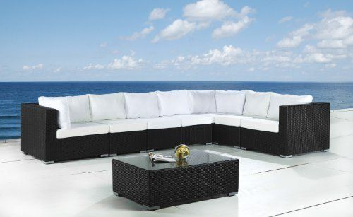 OUTDOOR WICKER SECTIONAL LOUNGE FURNITURE PATIO SET by BELIANI® - GRANDE by Beliani. $1699.00. Immediate delivery within 14 days.. Cushions very comfortable, With washable and detachable covers!. Extremely robust, UV resistant. 100% weatherproof for indoor and outdoor!. Wonderful Polyrattan luxury garden furniture set incl. beige cushions and glass top!. Purchase without risk: 30 days right of return and 12 month warranty!. ABOUT US: Beliani is your online source for mode...