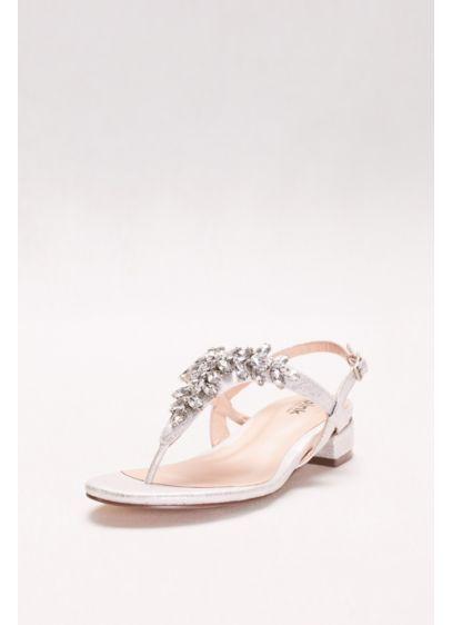 Myra Dyeable Low Wedge Thong Sandal | David's Bridal
