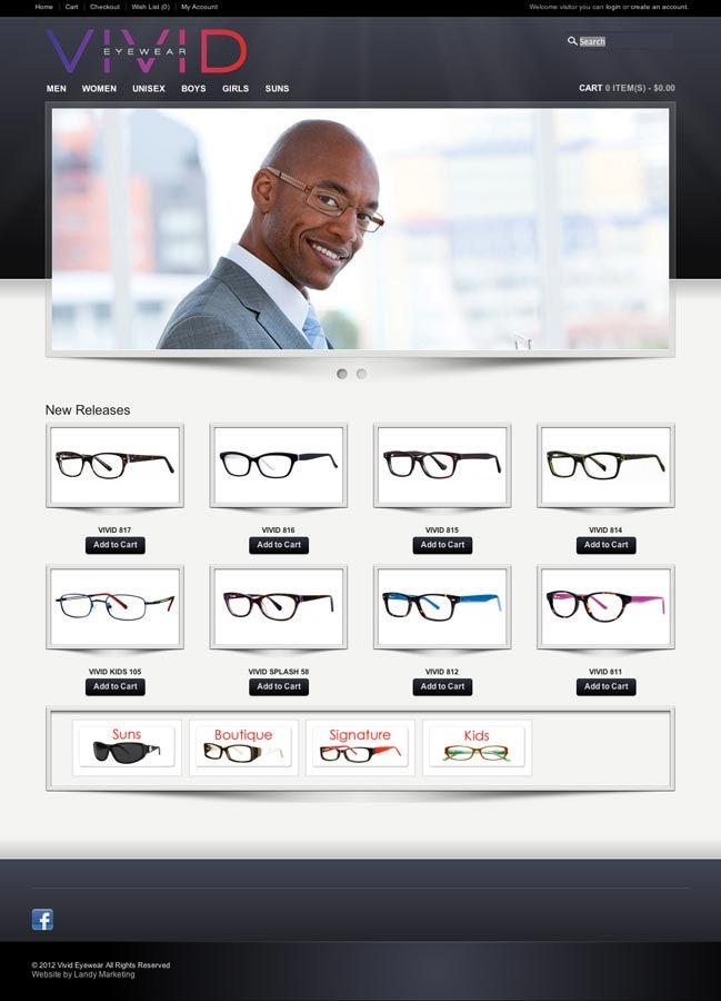 Vivid Eyewear Website Made By Landy Marketing Webdesign Web Design Website Web Design Marketing Eyewear Website