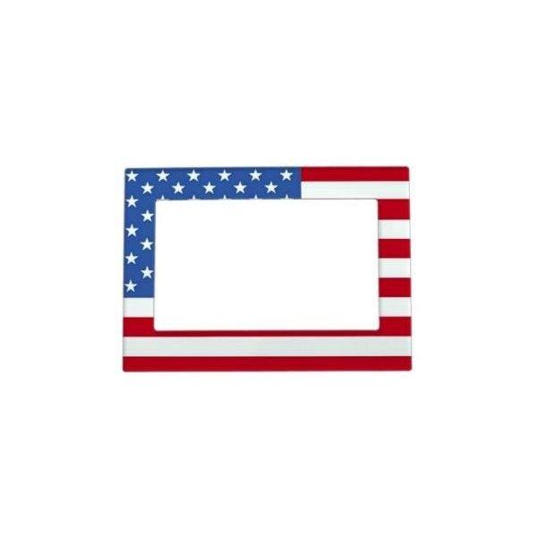 USA Flag Magnetic Photo Frame (490 UYU) ❤ liked on Polyvore ...