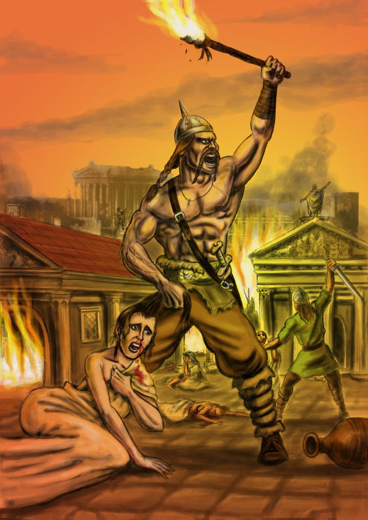 Visigoths Sack Rome, 410 AD by Popius on DeviantArt