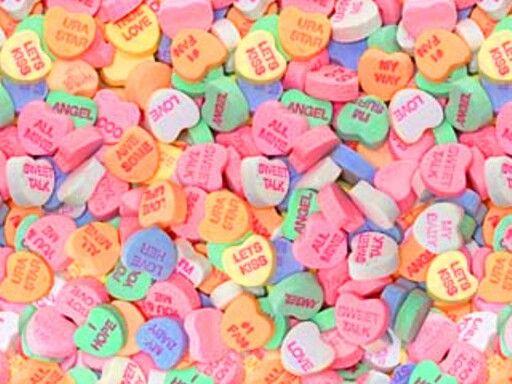 Conversation Hearts Valentines Wallpaper Sweetheart Candy Valentine Day Crafts