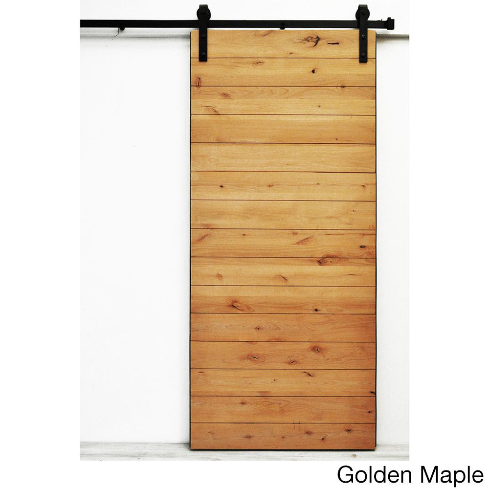 Superieur Dogberry Latitude 96 Inch Barn Door (Golden Maple Stain), Brown