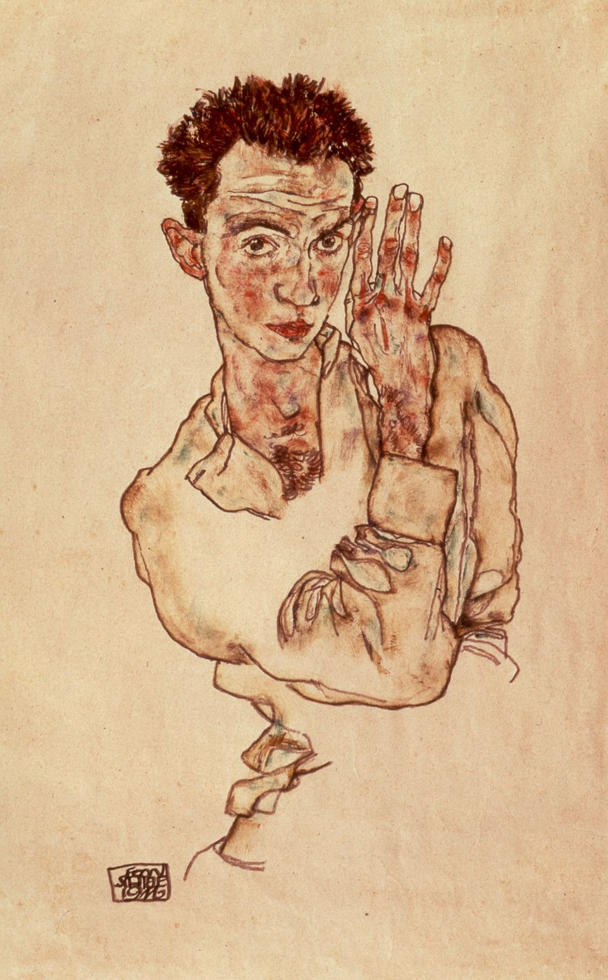"""gseart: """" REMEMBERING EGON SCHIELE, 1890-1918 We remember Egon Schiele, who succumbed to the Spanish influenza epidemic on this day in 1918, just three days after his pregnant wife, Edith. Although..."""