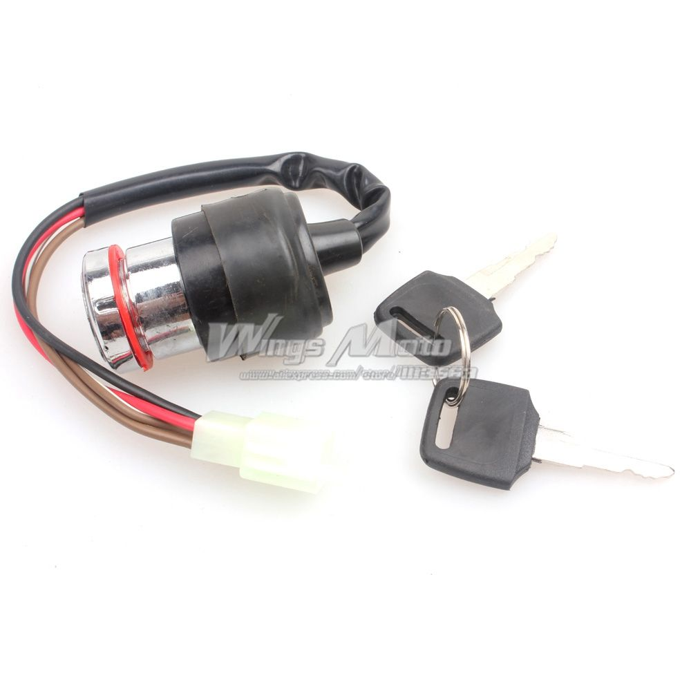4 Wire Ignition Key Switch Chinese Scooter Atv Buggy Go Kart Dirt Four Bike Wheeler