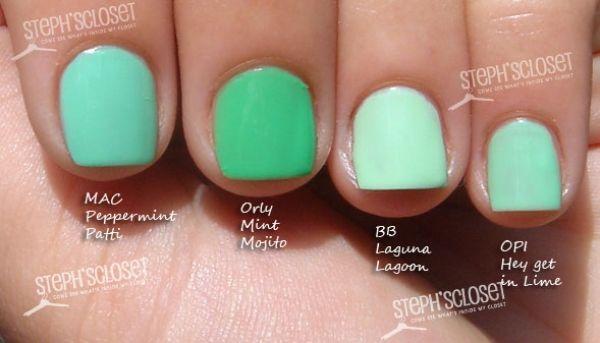 This digital photography of Steph Closet Mint Green Nail Polish ...