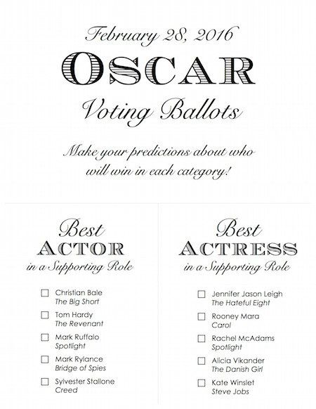 photo regarding Printable Oscar Ballots named Pin upon Printable Solutions