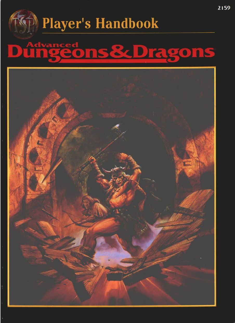 Ad D 2nd Edition Core Rulebook Player S Handbook With Images