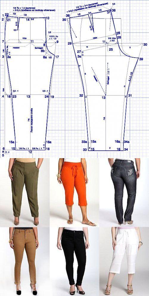 Выкройка брюк для \'роскошных\' женщин: Шьем сами: Группы - diets.ru ...