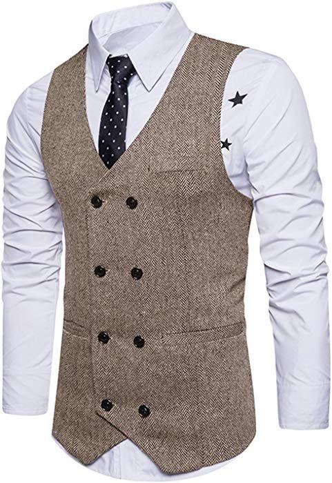 Gilet Panciotto Uomo Elegante Casual Cerimonia Matrimonio Giacca Slim Fit Blazer