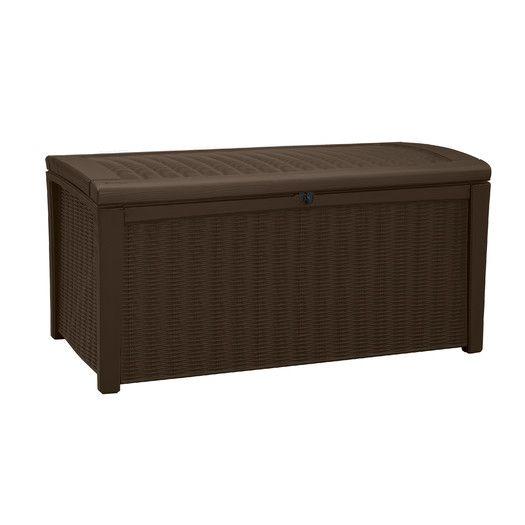Borneo 110 Gallon Resin Deck Box Patio Storage Deck Box Deck