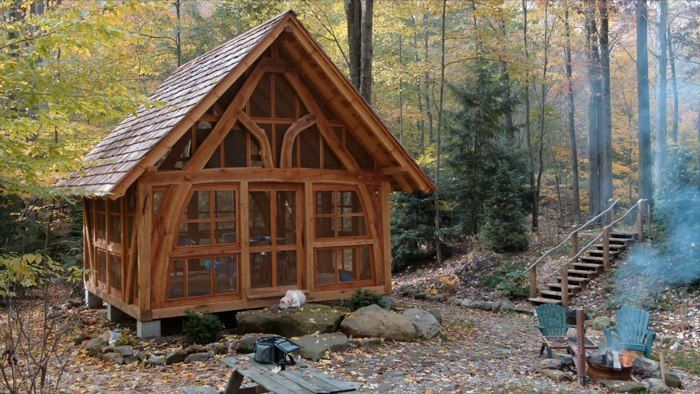 Cruck timber frame i 39 m going to build this tiny for Cruck frame house plans