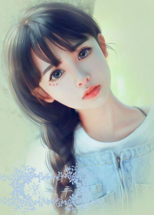 Imagen de art beautiful girl and digital art lovely girl girl art and illustration image on we heart it voltagebd Gallery
