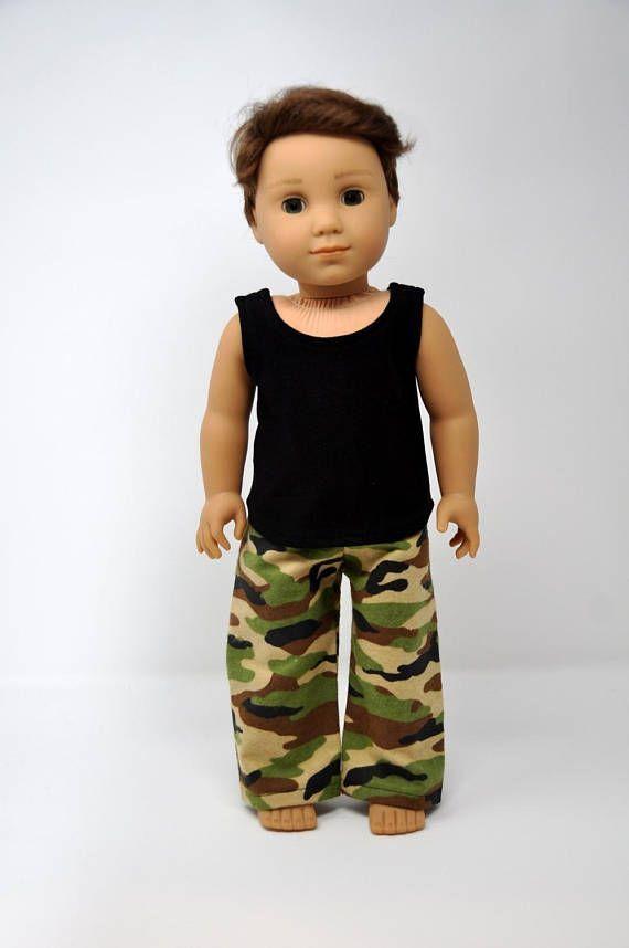 Camouflage Camo Flannel Pajama PJ Lounge Pants and Black Tank #boydollsincamo Camouflage Camo Flannel Pajama PJ Lounge Pants and Black Tank #boydollsincamo