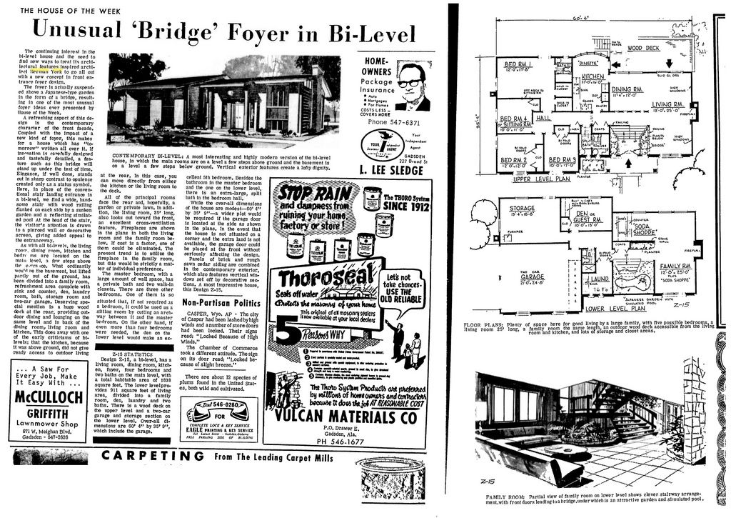 Z-15 Architect: Herman York (1967) | Architects, Vintage house plans ...