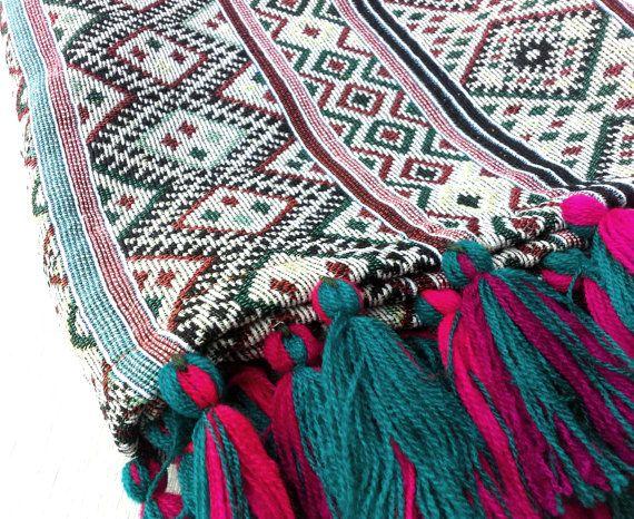 Bohemian Throw Blankets Classy Bohemian Throw Blanket Boho Beach Blanket Tribal Aztec Blanket