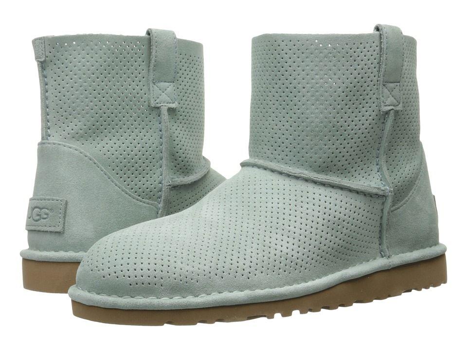 9999a4624b9 UGG UGG - CLASSIC UNLINED MINI PERF (ALOE VERA) WOMEN'S BOOTS. #ugg ...