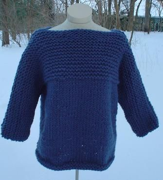 Free Knit Sweater Patterns For Beginners : Free Knitting Pattern - Womens Sweaters: Kelly Sweater Knitting Pint...
