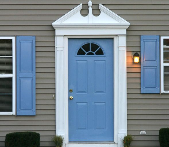Colonial Home Exterior Trim Design Ideas: Pilasters And Door Pediments And Crossheads By Fypon