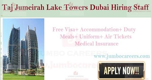 5 Star Taj Jumeirah Lake Towers Dubai Careers Jumeirah Lake