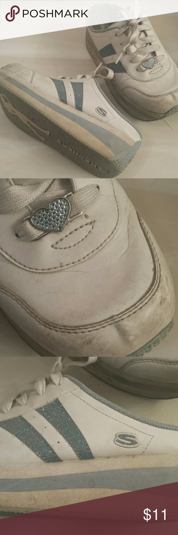7b0fddfac45 Vintage 90s Skechers Worn Cute Platform Sneaker Vintage shoes from Skechers ...slip on platform sneaker...some rub at toes. ..previously owned but  classic ...