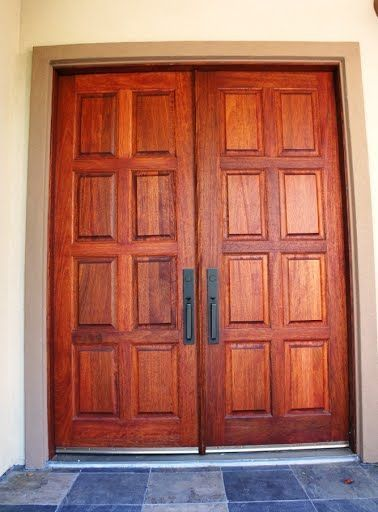 Double Wooden Doors Customized Just For This Eto Doors Customer