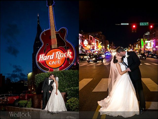 Wedlock Images Bride Groom Hard Rock Cafe Downtown Nashville Wedding