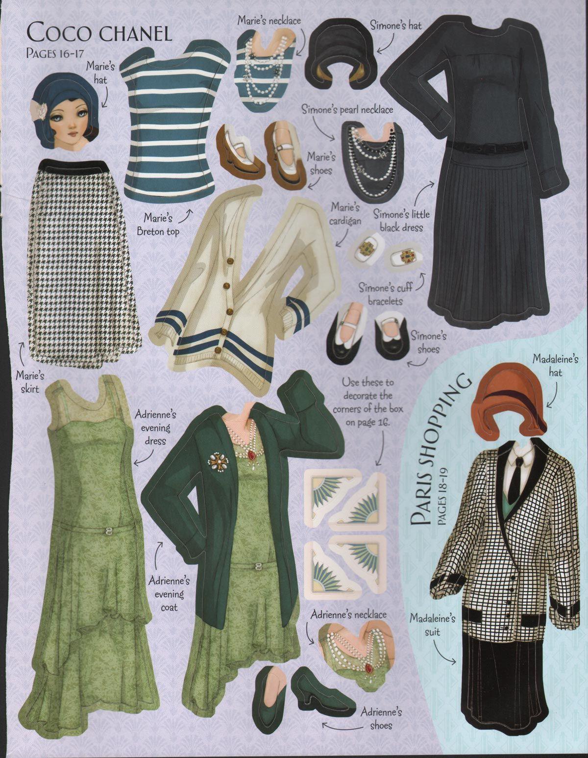 A Coco Chanel Wardrobe. http://glamourdaze.com/2014/02/1920s-fashion-animation.html