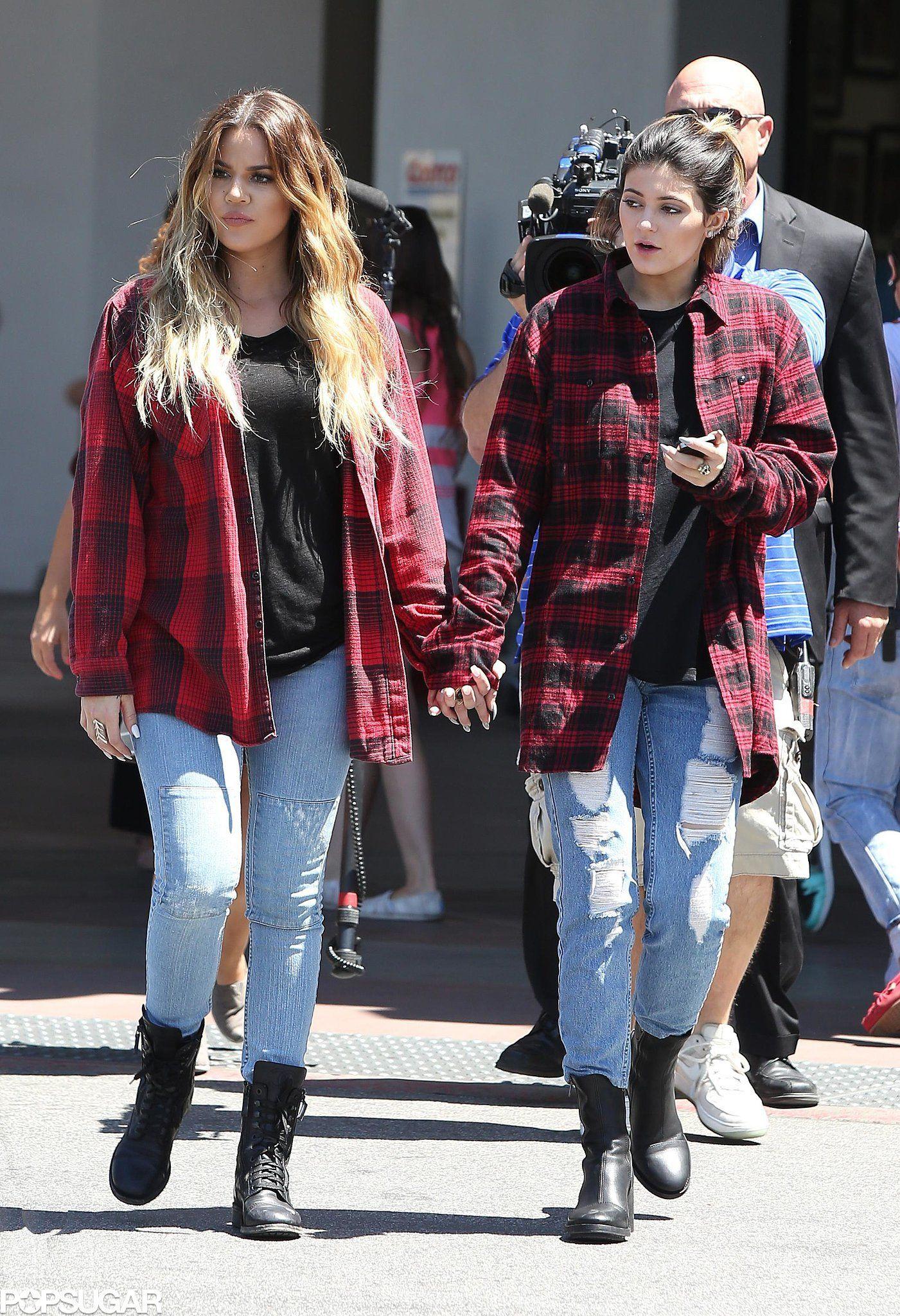 Khloe kardashian flannel shirt  Pin by Kardashian Jenner on Kendall Jenner  Pinterest