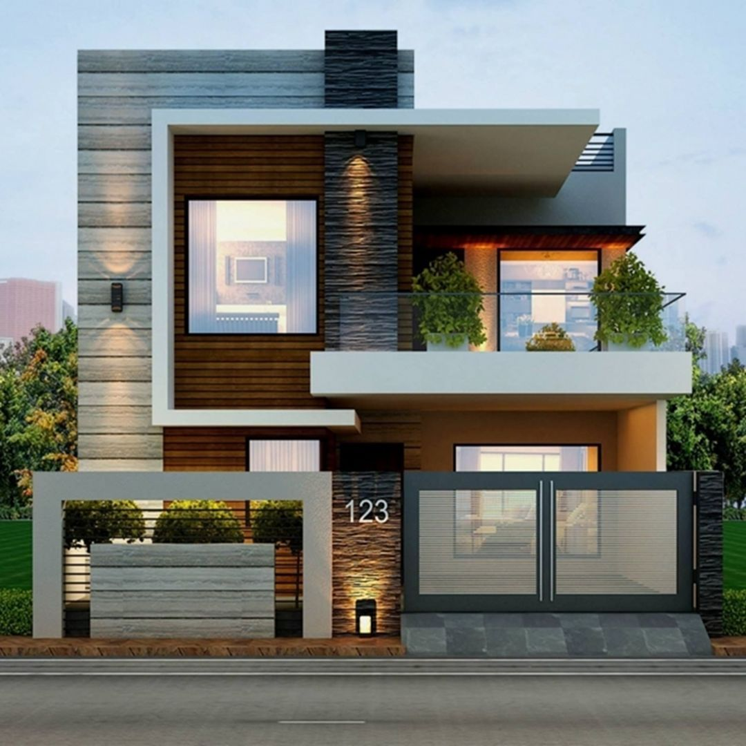 25 Awesome Modern Tiny Houses Design Ideas For Simple And Comfortable Life In 2020 House Front Design Facade House Modern Tiny House