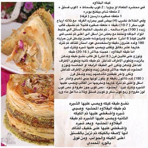 كيكة البقلاوة بالفستق Food Sweet Treats Pistachio Cake