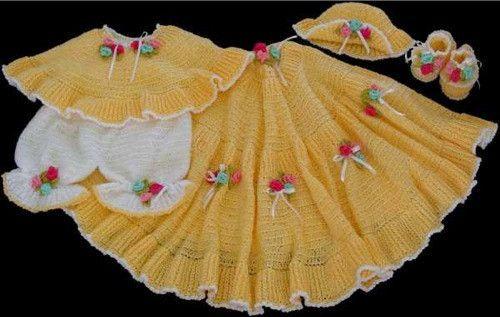 Picture of Sunshine Layette Crochet Pattern